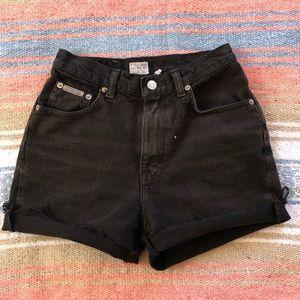 Vintage 90's CK Jeans High Waist Black Jean Shorts
